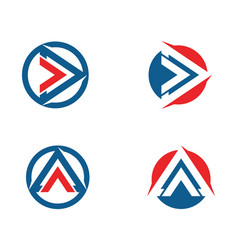 triangle business logo and symbols app template vector image