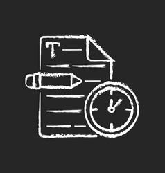 Urgent copywriting chalk white icon on black vector