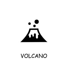 Volcano flat icon vector