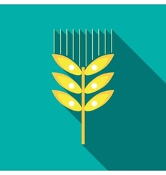Wheat ear icon in flat style vector