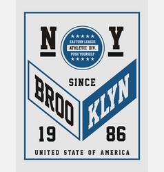 athletic ny brooklyn vector image vector image