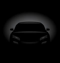 black car silhouette vector image