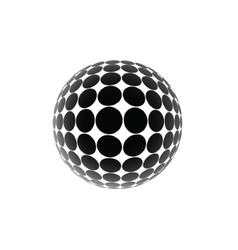black ball vector image