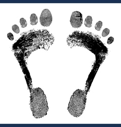 Footprint grunge icon detailed image vector image vector image