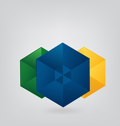 Geometric Brazil Background vector image vector image