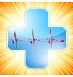 Heart medical cross vector image