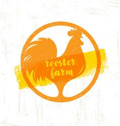 organic farm fresh healthy food eco concept vector image vector image