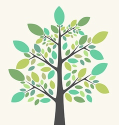 Beautiful green tree vector image vector image