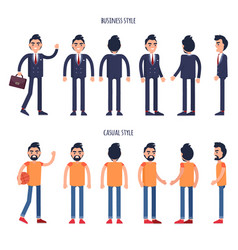 business and casual styles poster with men vector image