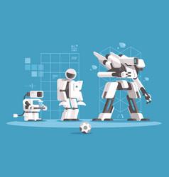 evolution of robotics vector image vector image