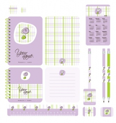 school set vector image