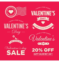valentines day set labels vector image vector image