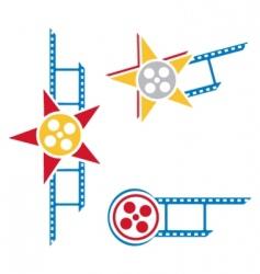film symbols vector image