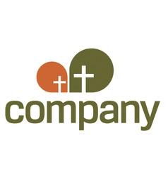 religion logo cross symbol vector image vector image