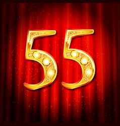 55 year anniversary gold vector image