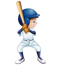 A young male baseball player vector