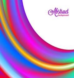 Abstract blurred colorful vibrant background vector image