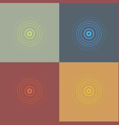 abstract line ripple emblem set radar sound vector image