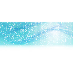 abstract winter snow blue background vector image
