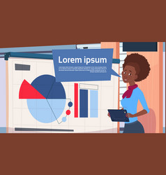 African american businesswoman holding vector