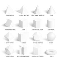 All basic 3d shapes template vector