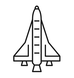 American spaceship icon outline style vector