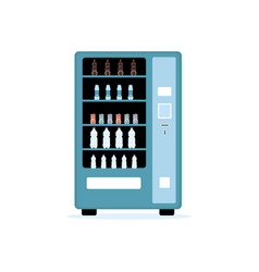 automatic vending machine with cold drinks flat vector image