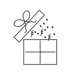 birthday open gift box confetti decoration vector image