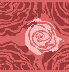 brush painted wave seamless pattern pink rose vector image