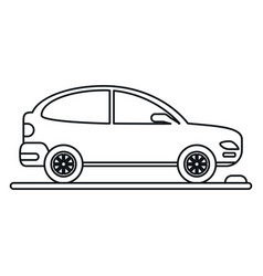Car coupe parking lot linear vector