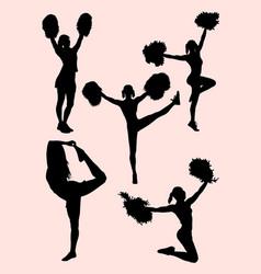 Cheerleader activity silhouette vector