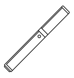 Closed vape pen icon outline style vector