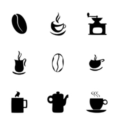 coffe icons set vector image