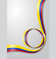 Colombian flag wavy background vector
