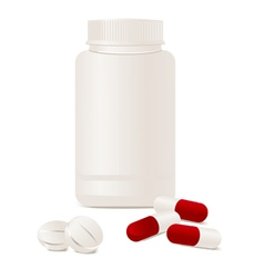 container pills vector image vector image