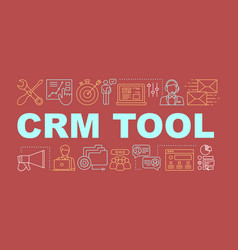 Crm tool word concepts banner vector