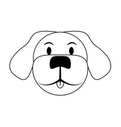 Cute dog icon vector
