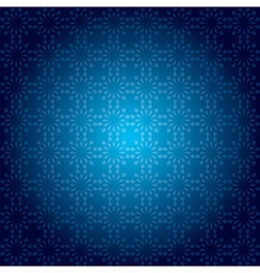Dark blue vintage pattern with radial gradient vector