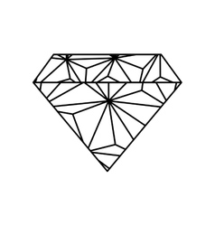 Diamond luxury jewerly vector image