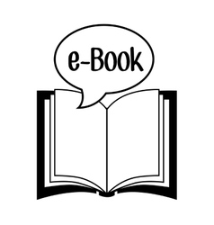 electronic books design vector image