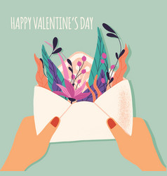 envelope with love letter colorful hand drawn vector image