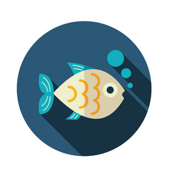 fish icon summer vacation vector image vector image