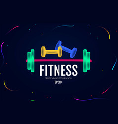 fittnes and sport shining background shining vector image