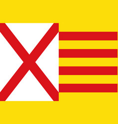 Flag of lhospitalet de llobregat of barcelona in vector