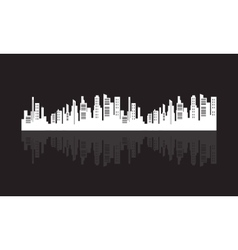 Flat silhouette city design vector