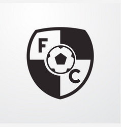 Football club icon vector