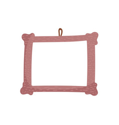 frame photo hanging empty icon vector image