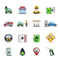 Gas Station Icons Set vector image