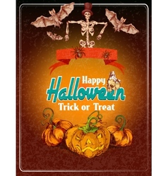 Halloween colored background vector image