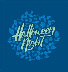 Halloween floral background vector